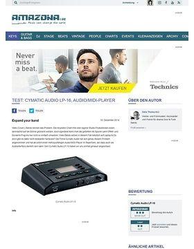 Test: Cymatic Audio LP-16, Audio/MIDI-Player