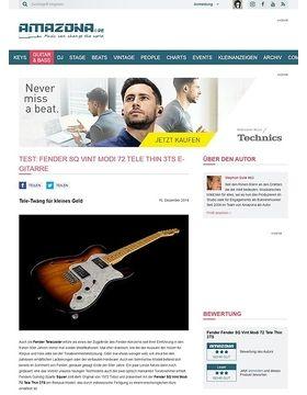 Test: Fender SQ Vint Modi 72 Tele Thin 3TS, E-Gitarre