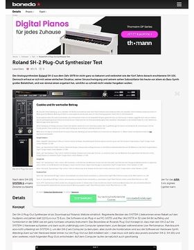 Roland SH-2 Plug-Out Synthesizer
