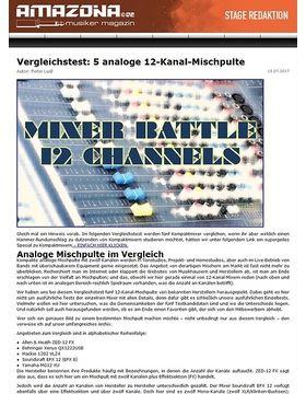 Special: Fünf 12-Kanal-Mischpulte, Vergleichstest