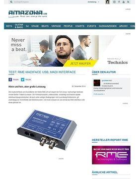 Test: RME Madiface USB, MADI Interface