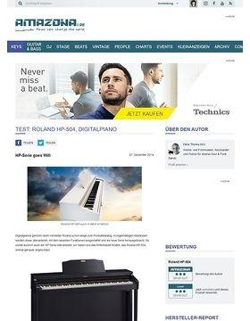 Test: Roland HP-504, Digitalpiano
