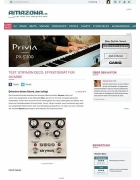 Test: Strymon Deco, Effektgerät für Gitarre