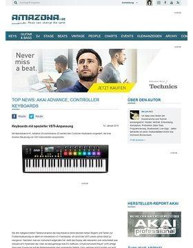 Top News: Akai Advance, Controller Keyboards