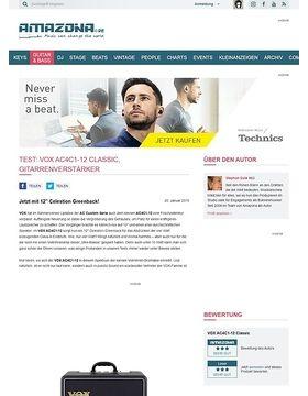 Test: VOX AC4C1-12 Classic, Gitarrenverstärker