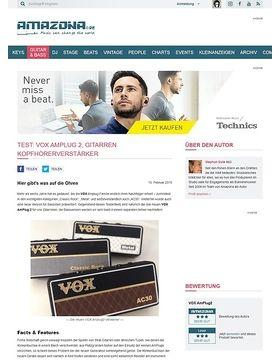 Test: VOX AmPlug2, Gitarren Kopfhörerverstärker