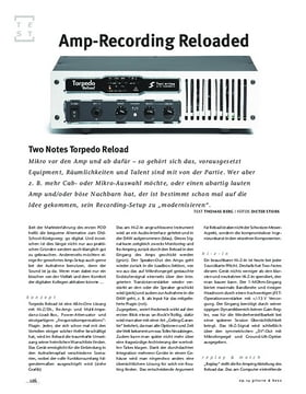 Two Notes Torpedo Reload, Recording-Tool