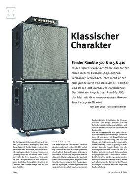 Fender Rumble 500 & 115 & 410, Bass-Anlage