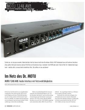 MOTU 1248 AVB - Audio-Interface mit Netzwerkfähigkeiten