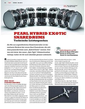 Pearl Hybrid Exotic Snaredrums