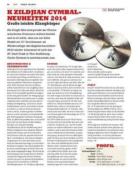 K Zildjian Cymbal-Neuheiten 2014