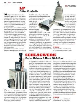 Schlagwerk Cajon Cabasa & Heck Stick One