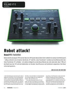 Roland VT-3 - Multieffekt: Vocoder, Vocal-Processor und Synthesizer