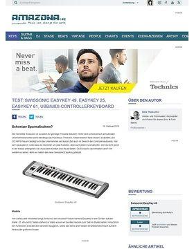 Test: Swissonic EasyKey 49, EasyKey 25, EasyKey 61, USB/MIDI-Controllerkeyboard