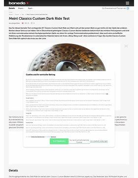 Meinl Classics Custom Dark Ride