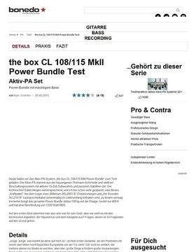 the box CL 108/115 MkII Power Bundle