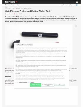 Meinl Techno, Proton und Motion Shaker