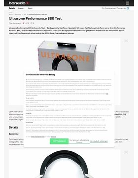 Ultrasone Performance 880