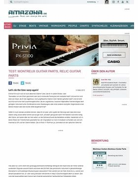 Test: Montreux Guitar Parts, Relic Guitar Parts