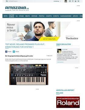 Top News: Roland Promars Plug-Out, Erweiterung für System 1