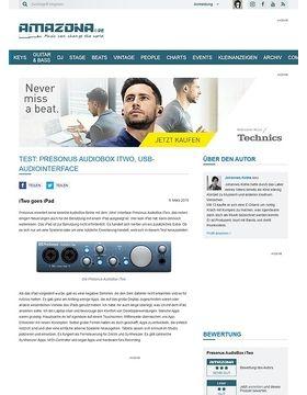 Test: Presonus AudioBox iTwo, USB-Audiointerface