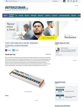 Test: Arturia Keylab 88, USB/MIDI-Controllerkeyboard