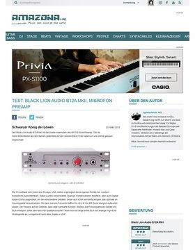 Test: Black Lion Audio B12A MkII, Mikrofon Preamp