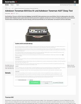 Ashdown Toneman 600 Evo III und Ashdown Toneman 410T Deep