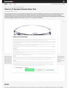Tama S.L.P. Dynamic Bronze Snare