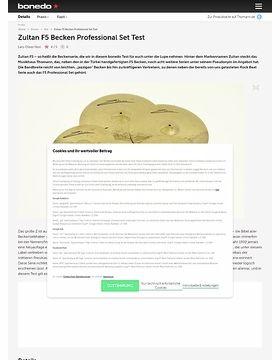 Zultan F5 Becken Professional Set