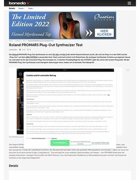 Roland PROMARS Plug-Out Synthesizer