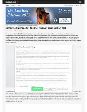Schlagwerk 2inOne CP 403 BLK Medium Black Edition