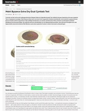 Meinl Byzance Extra Dry Dual Cymbals