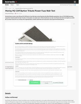 Morley M2 Cliff Burton Tribute Power Fuzz Wah