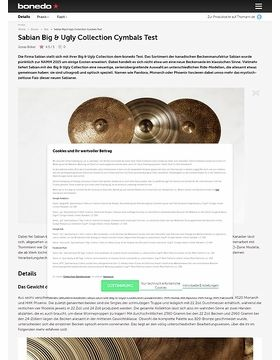 Sabian Big & Ugly Collection Cymbals