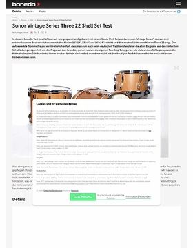 Sonor Vintage Series Three 22 Shell Set