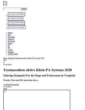Testmarathon aktive Klein-PA Systeme