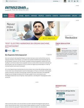 Test: Electro Harmonix B9 Organ Machine, Effektgerät