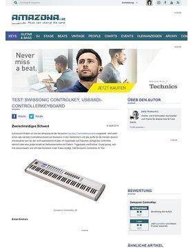Test: Swissonic ControlKey, USB/MIDI-Controllerkeyboard