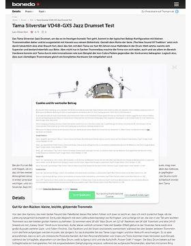 Tama Silverstar Jazz Drumset