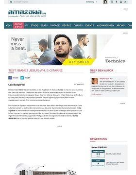 Test: Ibanez JEMJR-WH, E-Gitarre