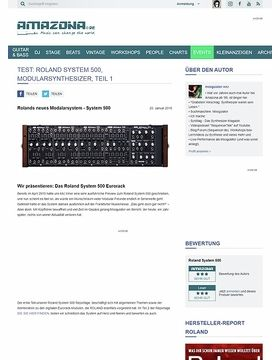 Preview: Roland System-500, Modularsynthesizer