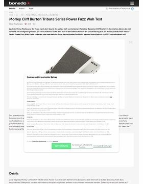 Morley Cliff Burton Tribute Series Power Fuzz Wah