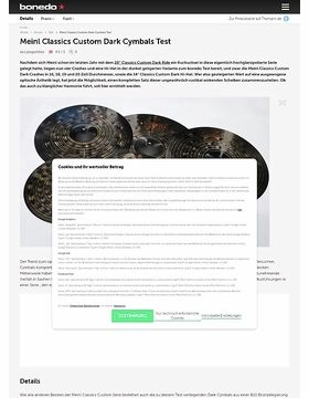 Meinl Classics Custom Dark Cymbals