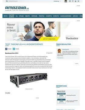 Test: Tascam US-4x4, Audiointerface