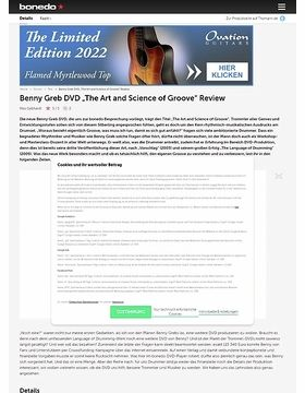 "Benny Greb DVD ""The Art and Science of Groove"""