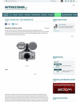 Test: Zoom iQ7, iOS-Mikrofon
