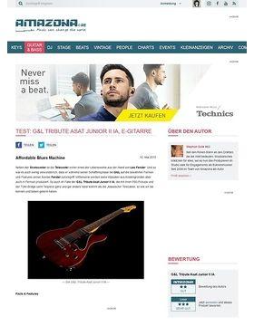 Test: G&L Tribute Asat Junior II IA, E-Gitarre