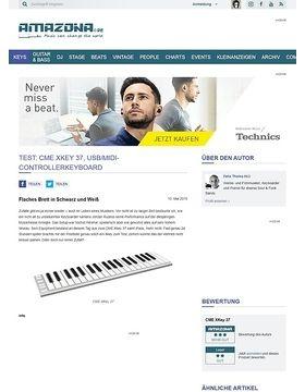 Test: CME XKey 37, USB/MIDI-Controllerkeyboard