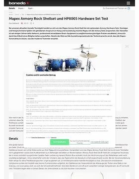 Mapex Armory Rock Shellset und HP8005 Hardware Set